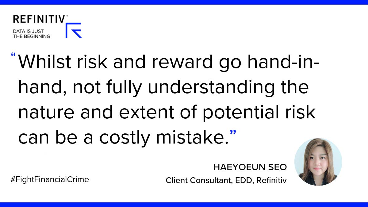 While risk and reward go hand-in-hand, not fully understanding the nature and extent of potential risk can be a costly mistake. Haeyoeun Seo Quote. The critical nature of pre-transactional due diligence