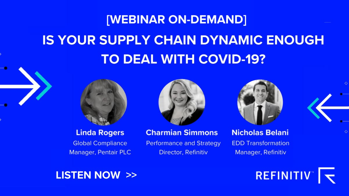 Webinar: Is your supply chain dynamic enough to deal with COVID-19? The COVID-19 financial crime risks