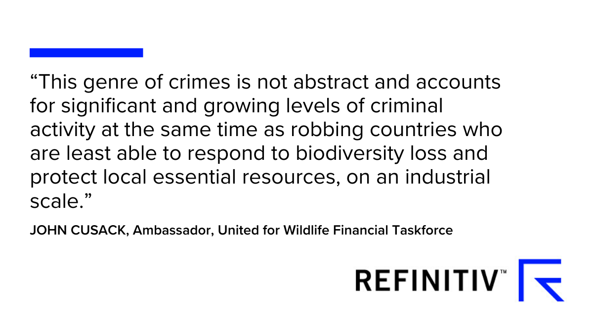 John Cusack, Ambassador, United for Wildlife Financial Taskforce quote