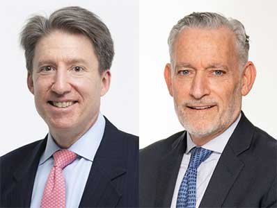 Greg Steier, Portfolio Manager, and Jeff Schoenfeld, Partner, Head of Global Institutional Business Development and Relationship Management, Brown Brothers Harriman. 2021 Refinitiv Lipper Fund Awards for United States